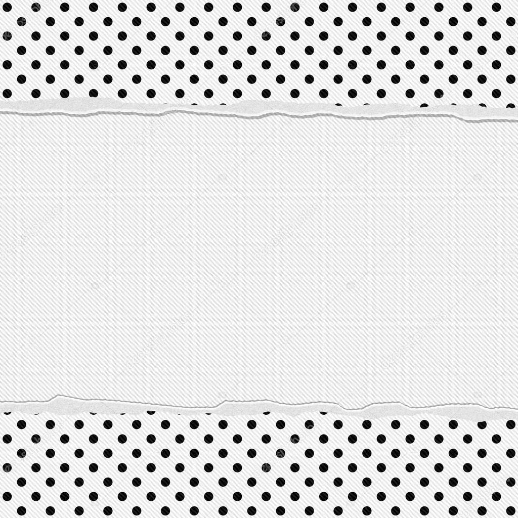 Black and White Polka Dot Frame with Torn Background — Stock Photo ...