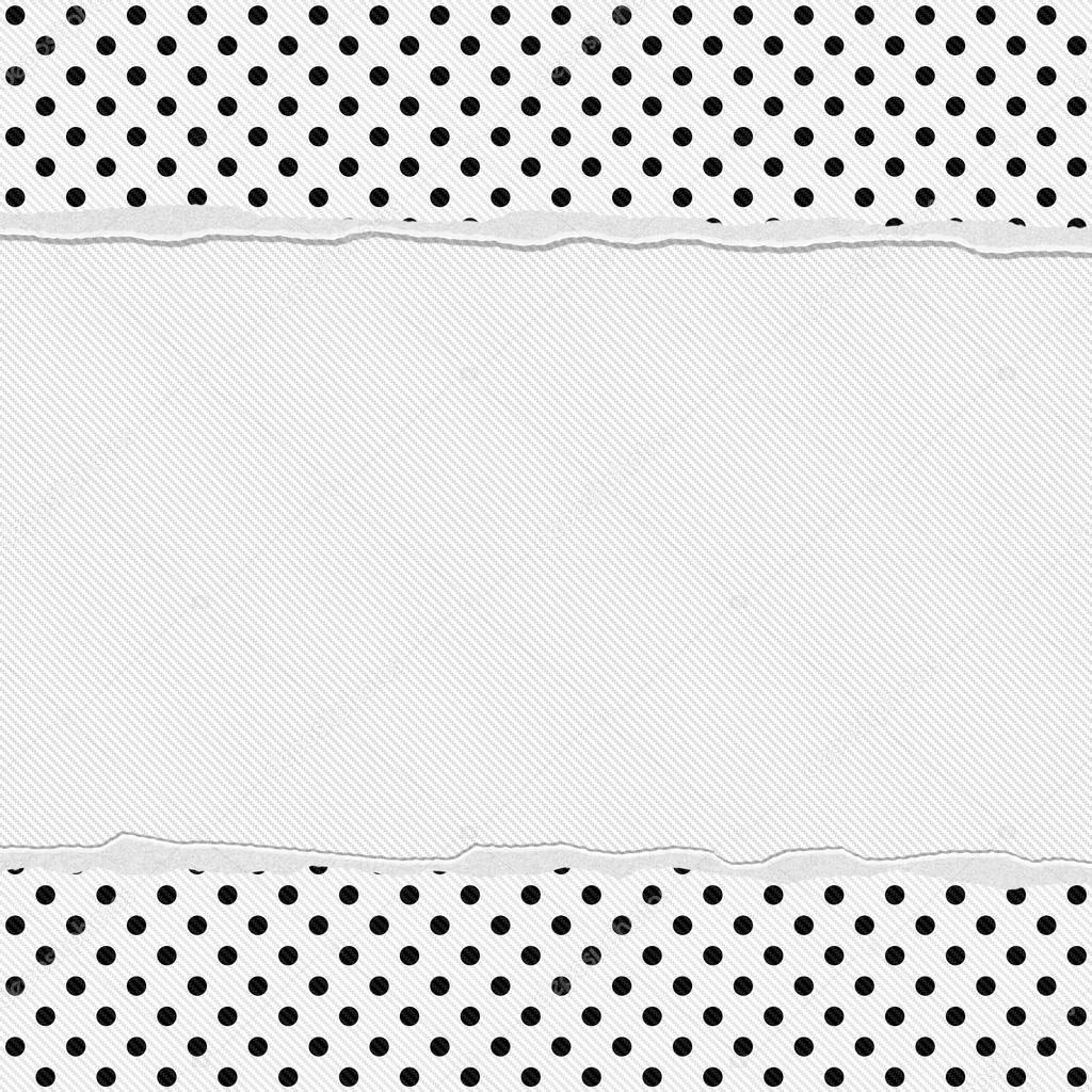 zwarte en witte polka dot frame met gescheurde achtergrond ...