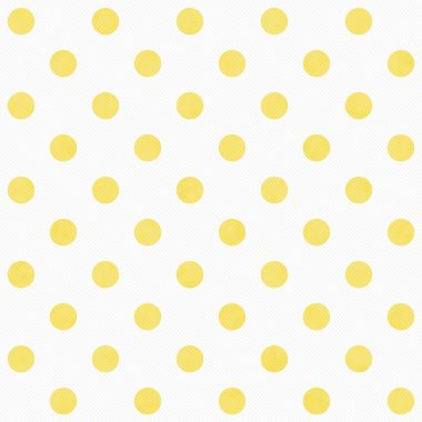 Yellow and White Large Polka Dots Pattern Repeat Background