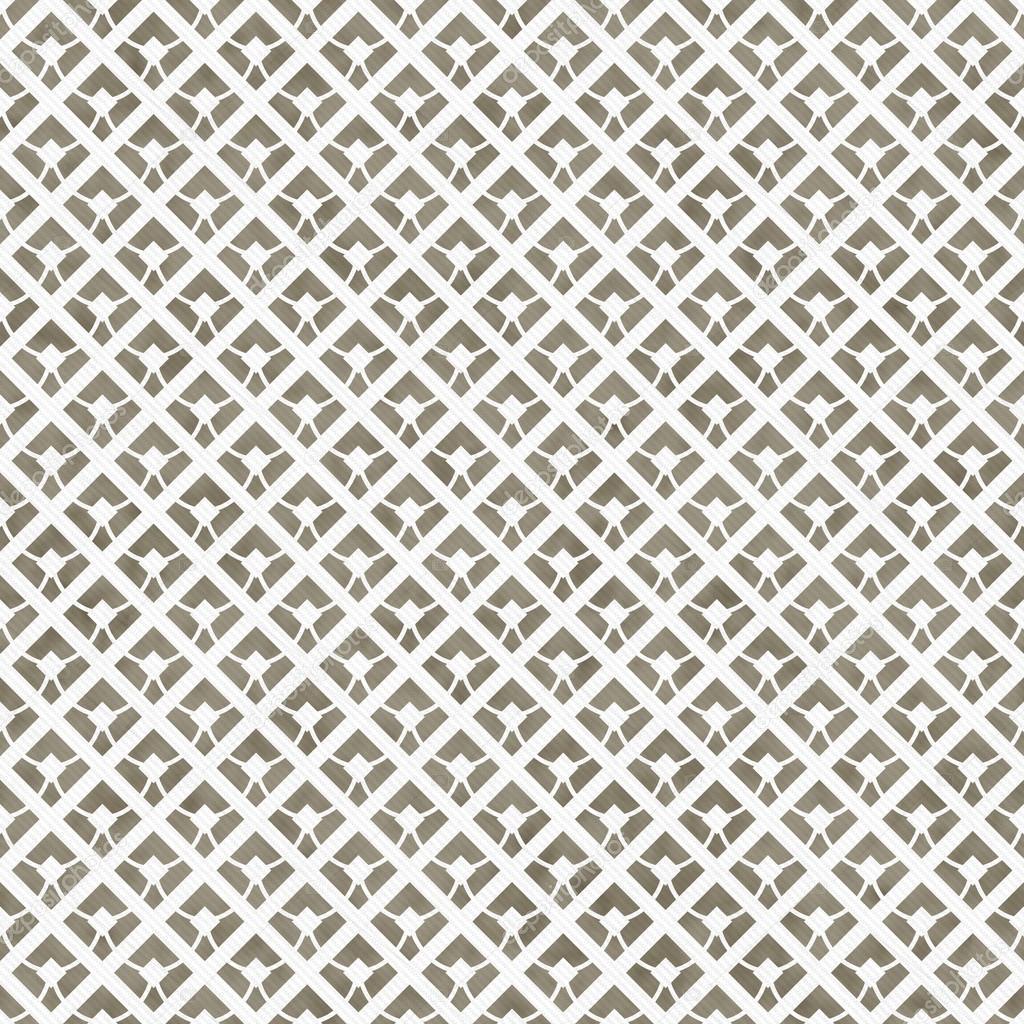 Beige Und Weiß Diagonal Quadrate Fliesen Muster Wiederholen, Hintergrund U2014  Stockfoto