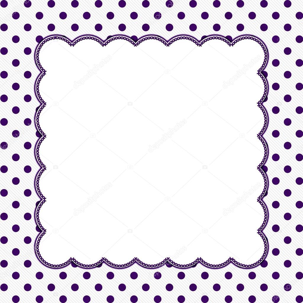 Purple and White Polka Dot Frame Background — Stock Photo © karenr ...