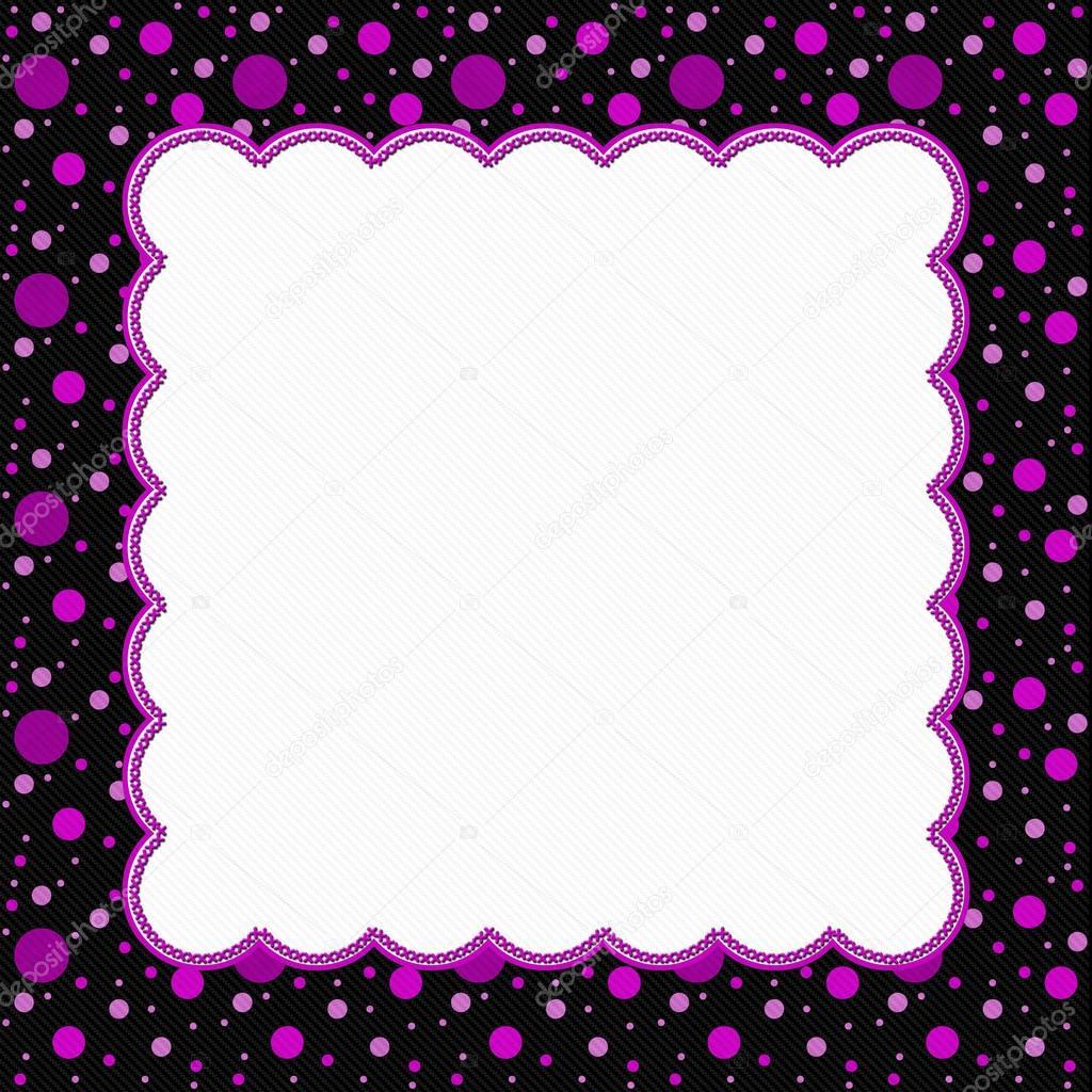Pink and Black Polka Dot Frame Background — Stock Photo © karenr ...