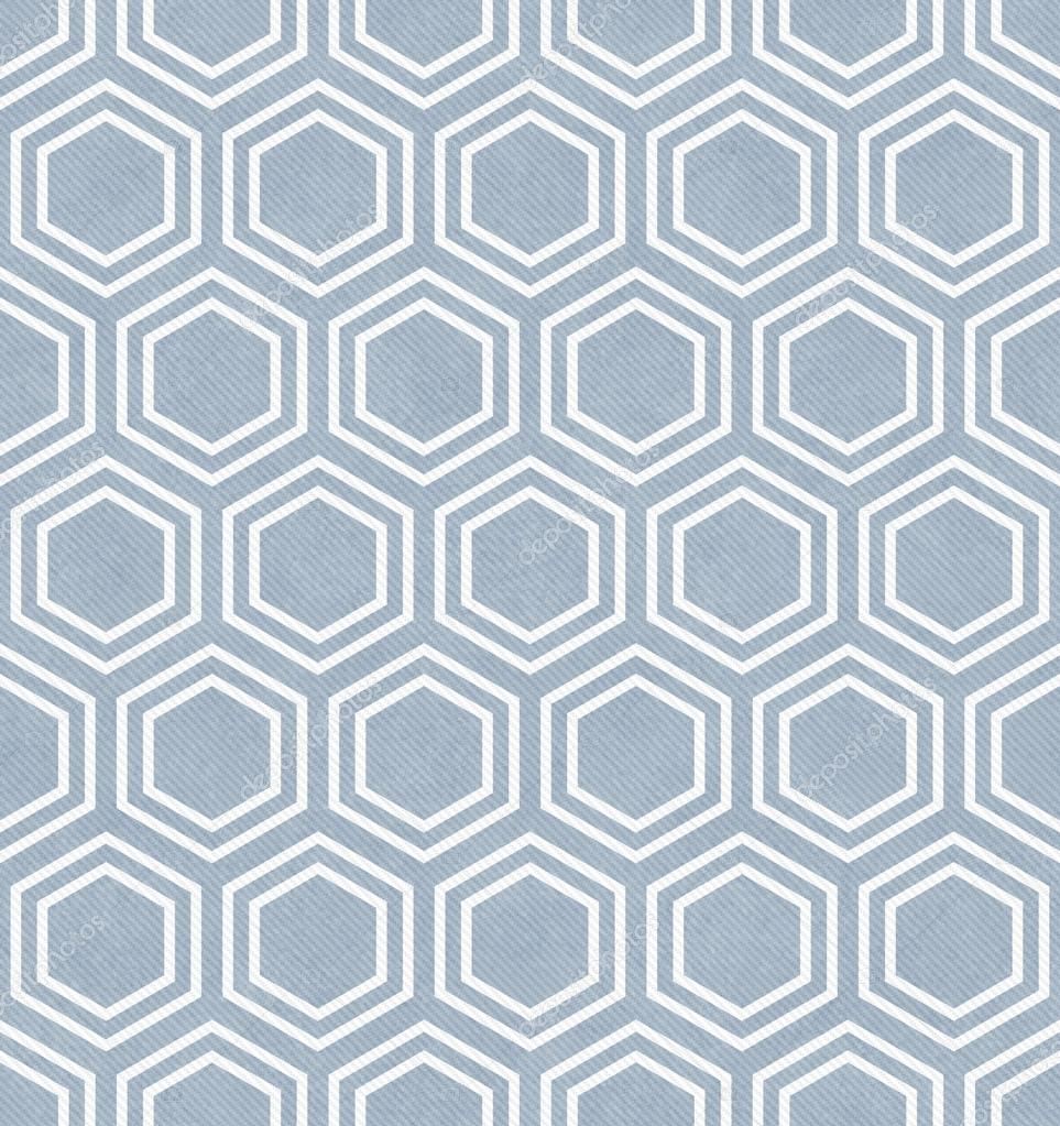 Blue and White Hexagon Tile Pattern Repeat Background — Stock Photo ...
