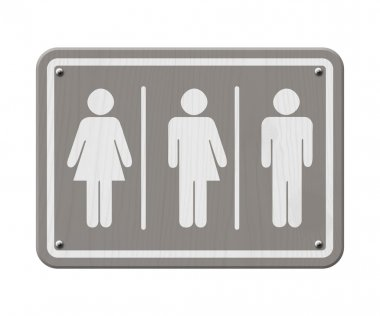 Gray and White Transgender Sign