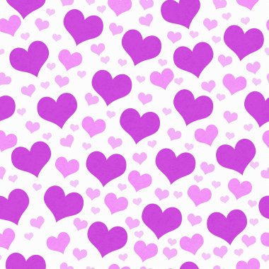Purple and White Hearts Tile Pattern Repeat Background that is seamless and repeats stock vector
