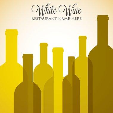 White wine list menu cover