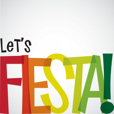 Bright typographic Fiesta card in vector format.