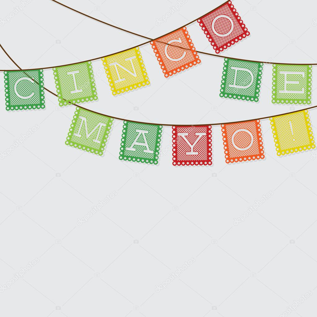 Mexican 'papel picado' (Paper flag decoration) card in ...