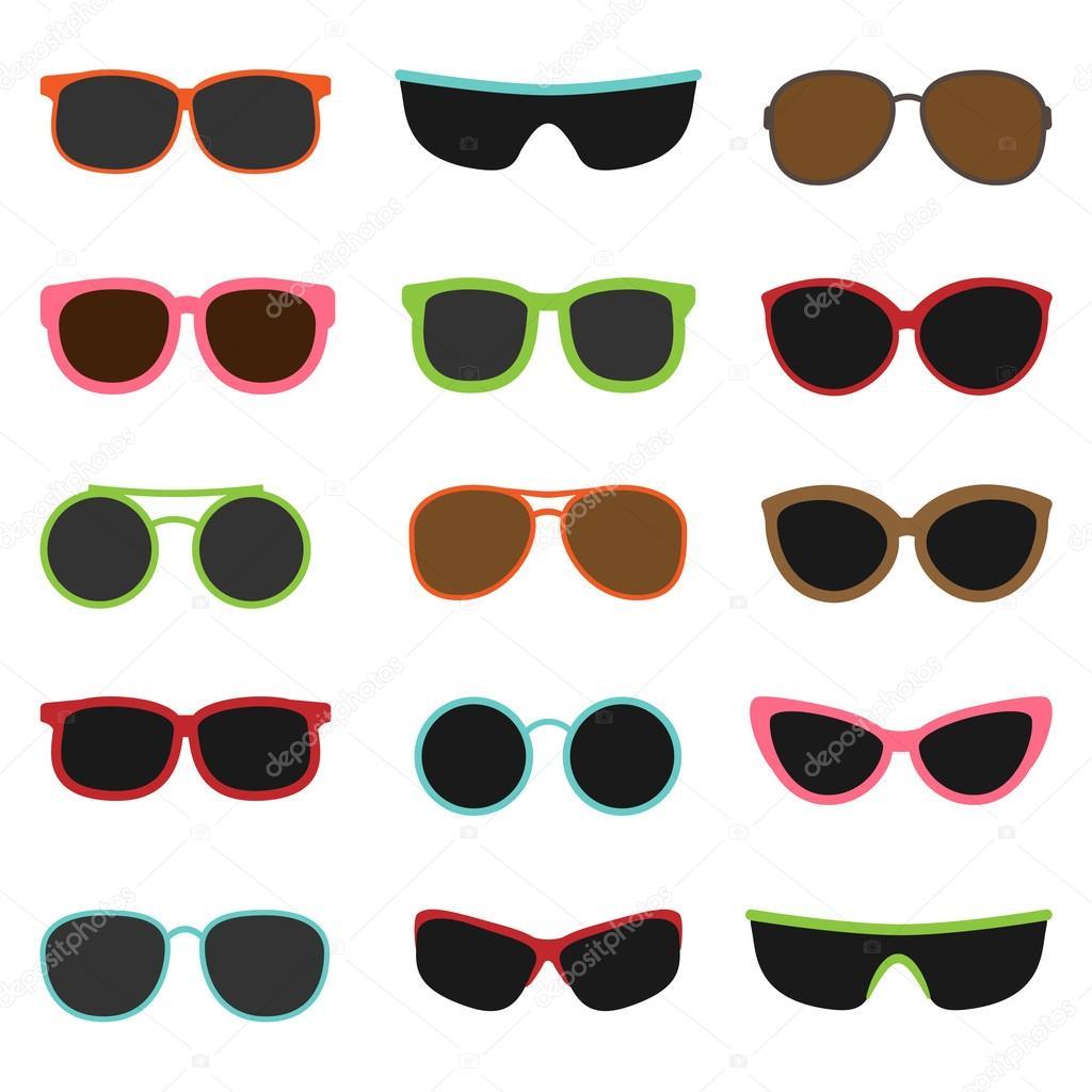c17123fdad6483 Verschillende zonnebrillen — Stockvector © yuliya m  114110742