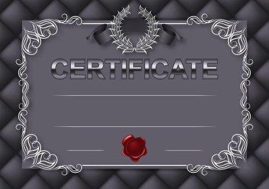 Template of certificate