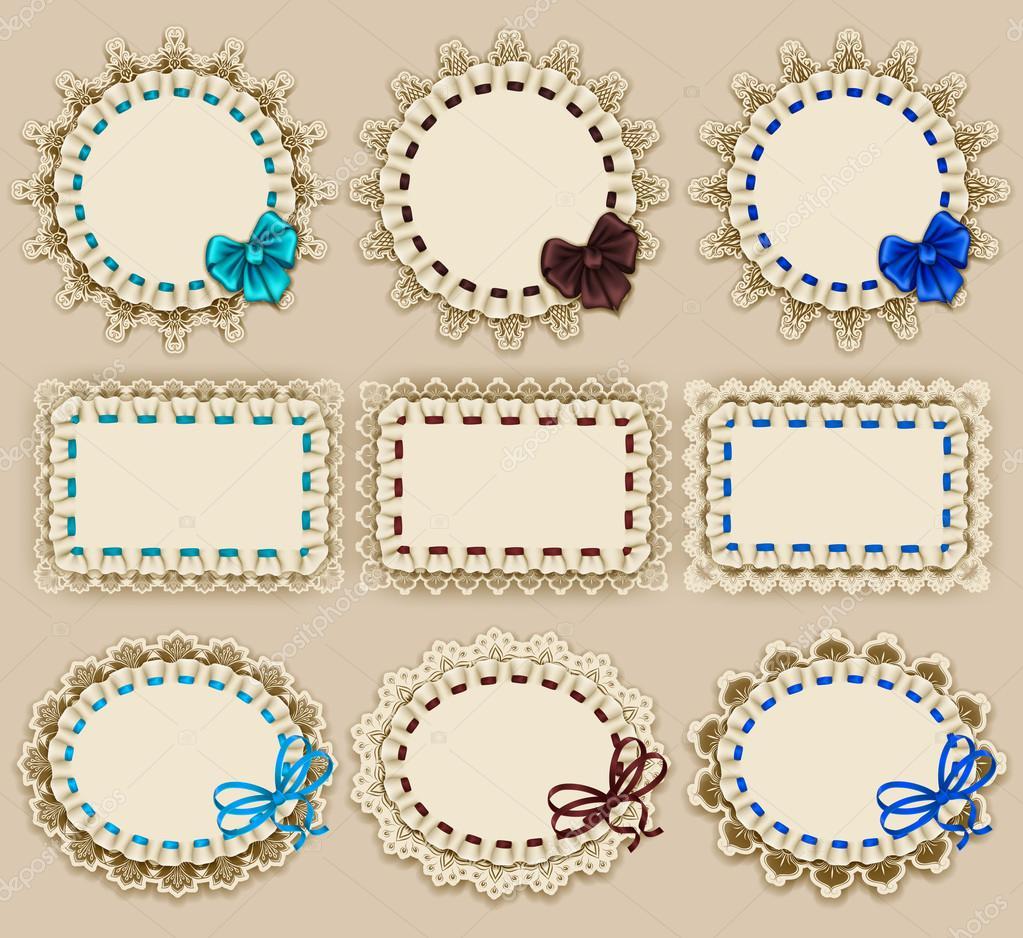 Diseño de marco de elegantes plantillas — Archivo Imágenes ...