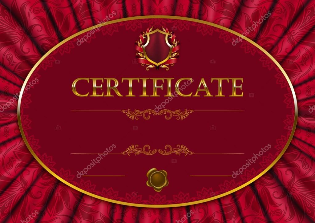 элегантный шаблон сертификата диплома Векторное изображение  Элегантный шаблон сертификата диплома стоковый вектор 66374991