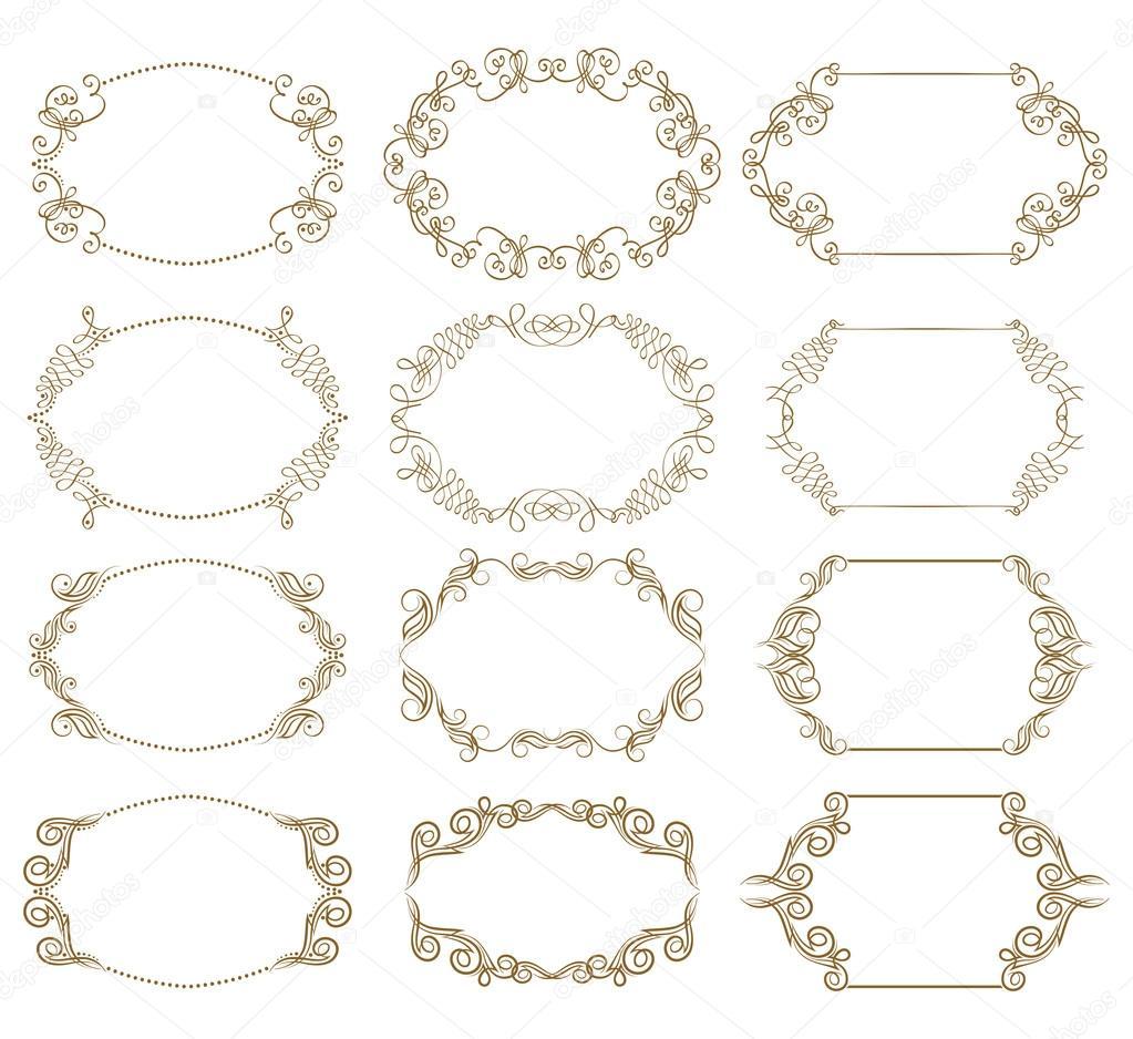Marcos ornamentales decorativos — Vector de stock © juli_goncharova ...