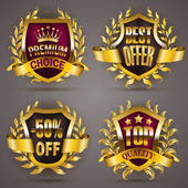 Set of luxury golden badges
