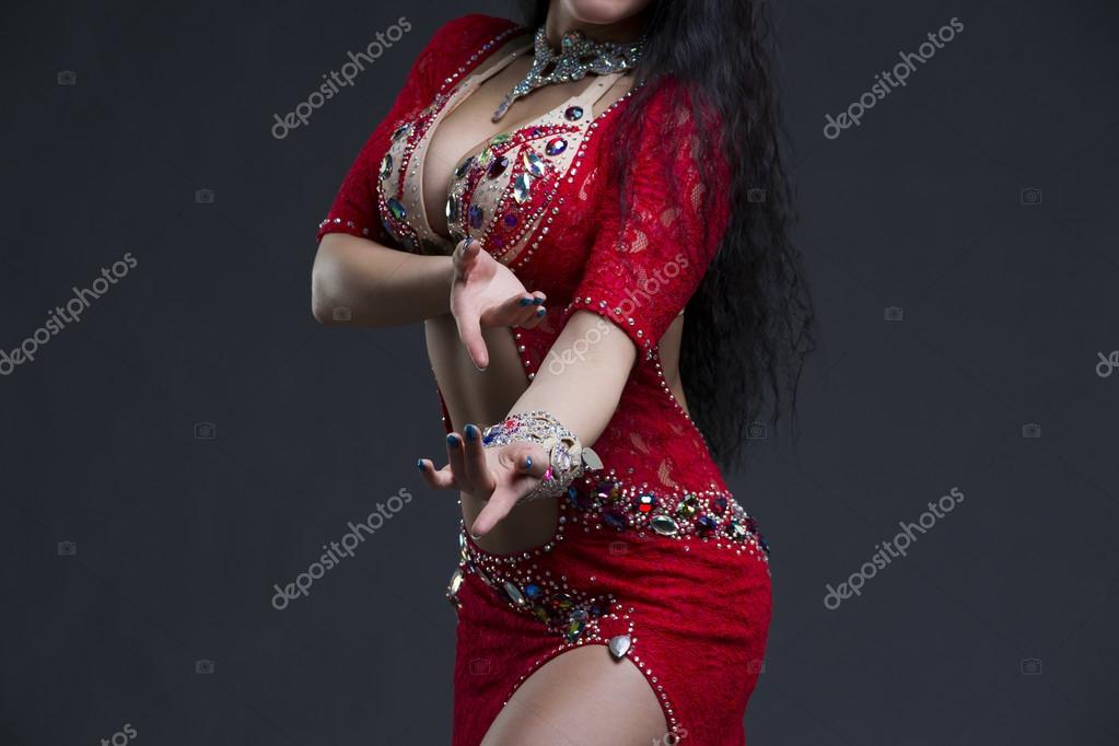 Young Beautiful Exotic Eastern Women Performs Belly Dance