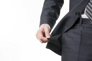 Concept of bankruptcy - empty pocket