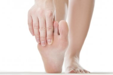 Massage of female foot