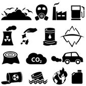 Photo Pollution and environment icons