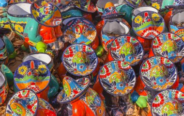 Colorful Ceramic Mexican Peasants Hats San Miguel de Allende Mexico
