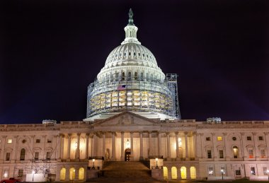 US Capitol Noth rSide Construction Night Stars Washington DC