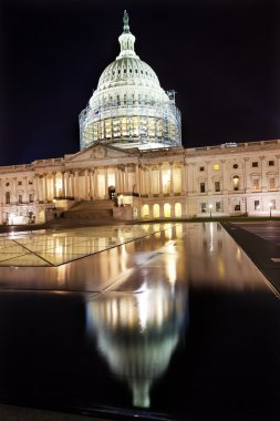 US Capitol North Side Construction Night Stars Washington DC Ref