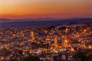 San Miguel de Allende Mexico Miramar Overlook Sunset Parroquia A