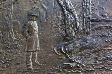 General Sherman Fire Bas Relief Civil War Memorial Pennsylvania