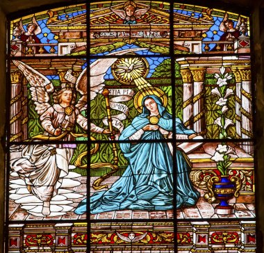 Annunciation Mary Angel Gabriel Stained Glass Old Basilica Guada