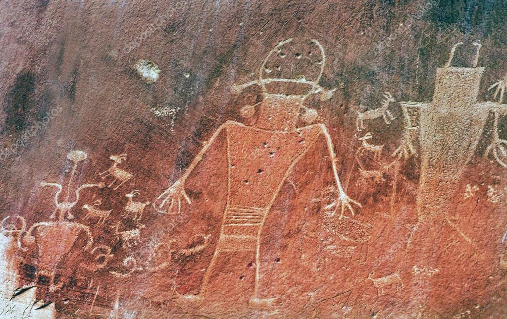 Native American Indian Fremont Petroglyphs Capital Reef National Park