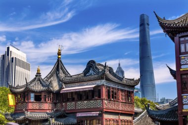 Shanghai China Old and New Shanghai Tower and Yuyuan Garden