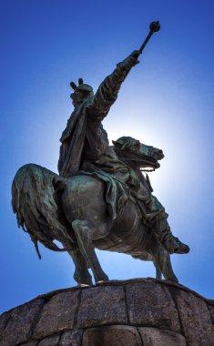 Bogdan Khmelnitsky Equestrian Statue Sofiyskaya Square Kiev Ukra