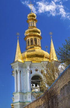 Bell Tower Far Caves Holy Assumption Pechrsk Lavra Cathedral Kie