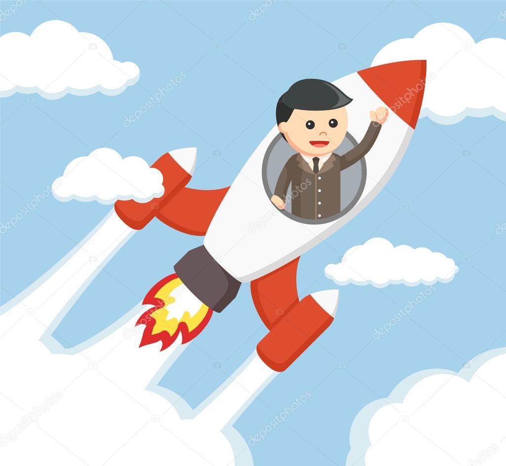 Uomo d 39 affari guidare disegno di illustrazione vettoriale - Immagini stampabili a razzo ...
