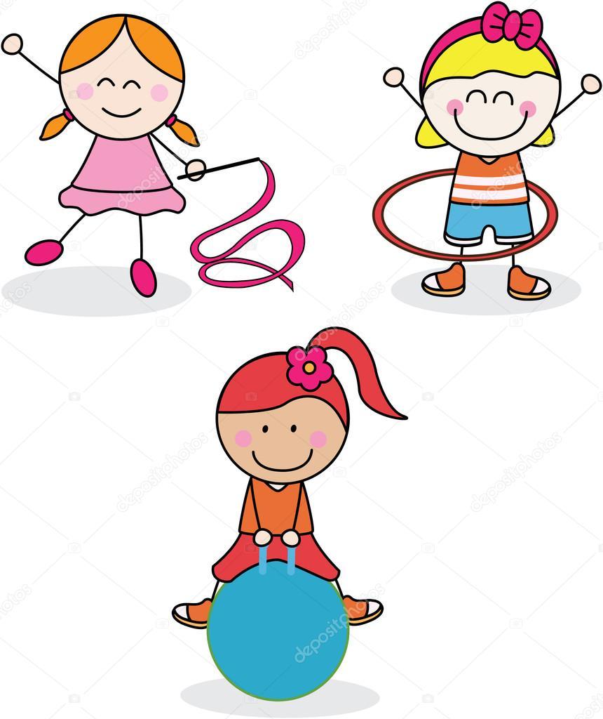 Colección de deporte niña — Vector de stock © redrockerz99  79447956 4462752187d