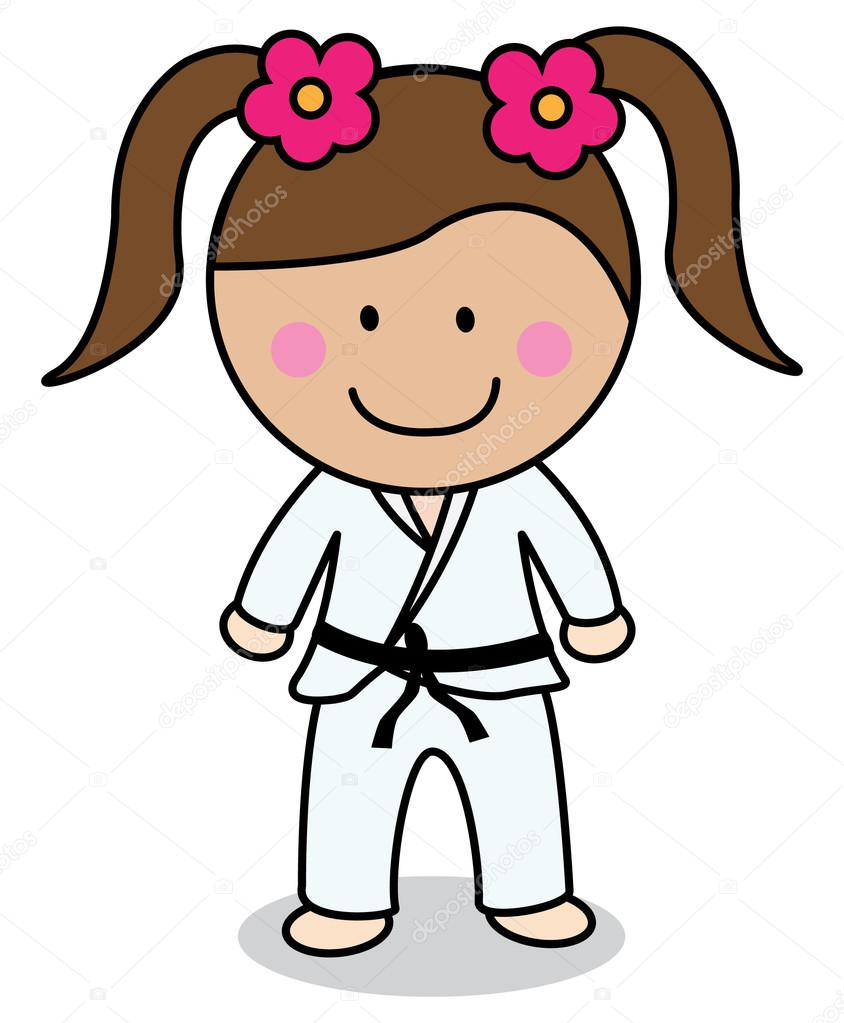 karate girl � stock vector 169 redrockerz99 82302144