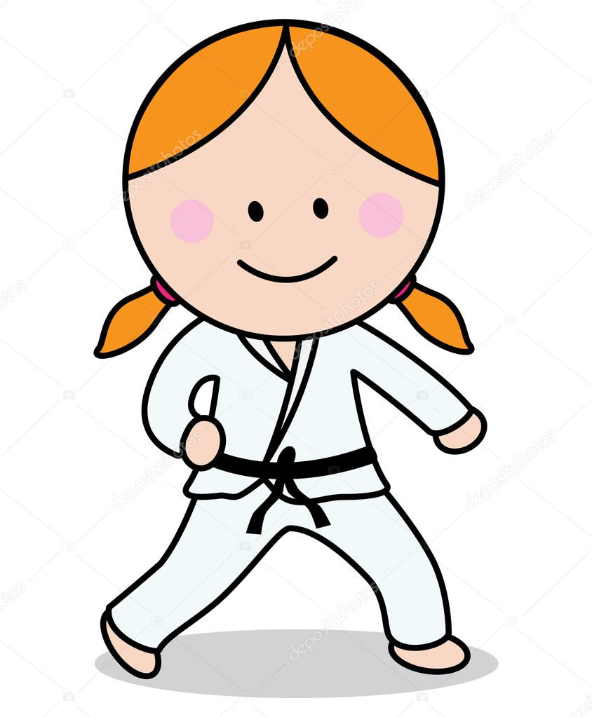 karate girl � stock vector 169 redrockerz99 82302190