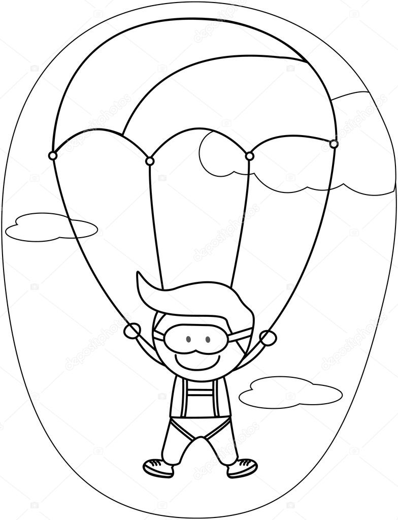 çocuklar çocuk Paraşüt Stok Vektör Redrockerz99 82304800