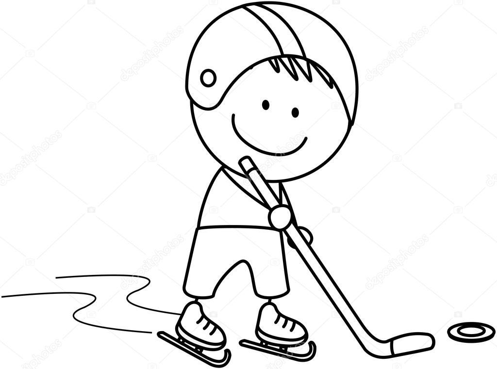 niño hockey — Archivo Imágenes Vectoriales © redrockerz99 #82304870