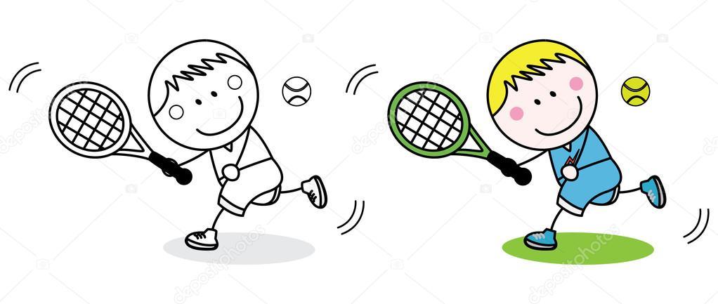 Badminton speler kleurplaat stockvector redrockerz99 for Badminton coloring pages
