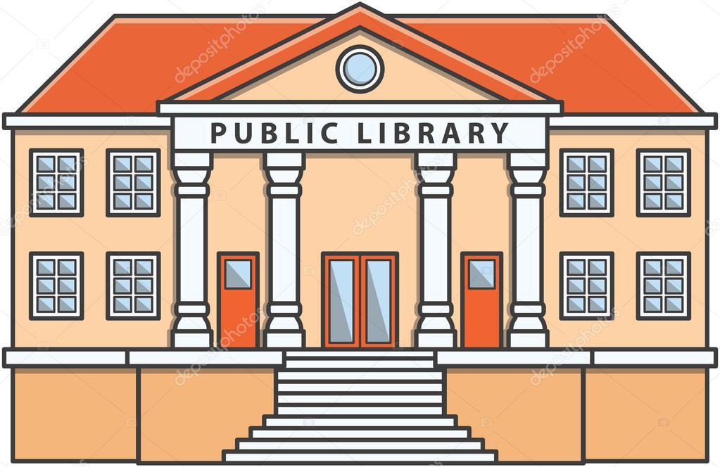 Dibujos Animados De Ilustración De Doodle De Biblioteca