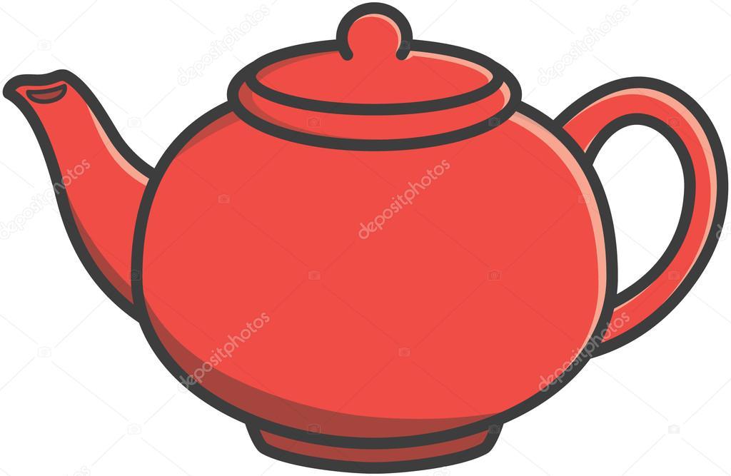 Tea Pot Vector Cartoon Illustration Stock Vector C Redrockerz99