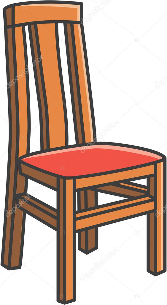 Table and chairs cartoon for Comedor vector