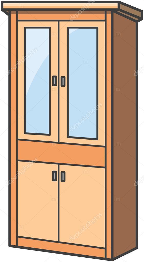 Cupboard Vector Cartoon Illustration Stock Vector