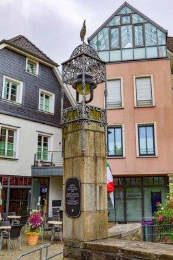 KETTWIG, GERMANY - CIRCA JUNE, 2021: The Kleine Bruecke over Muehlgraben in Kettwig, North Rhine-Westphalia, Germany