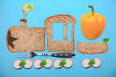 Fotografie healthy food with toast and vegetables
