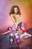 Fitness lány - zumba tánc