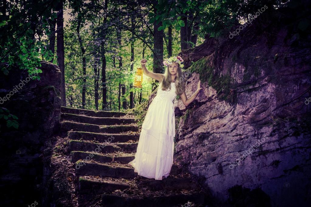 Фотообои в темном лесу