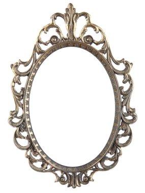 Vintage metal oval frame