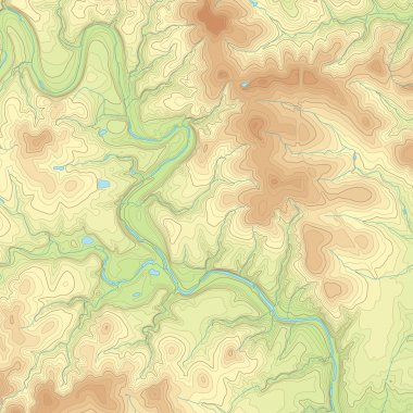 Colored Topographic map