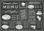 Fotografie Grunge Chalkboard Restaurant Menu Template